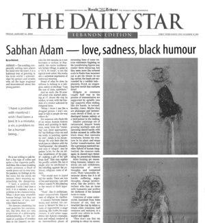 Sabhan Adam — love, sadness, black humour